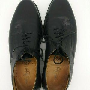 Martin Dingman Black Derby Shoes Men's Size 10 M